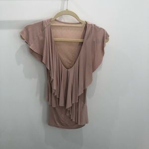 Tops - Cute lightly worn beige top
